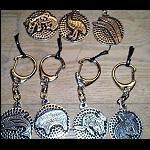 Metall Schlüsselanhänger mit Malerei