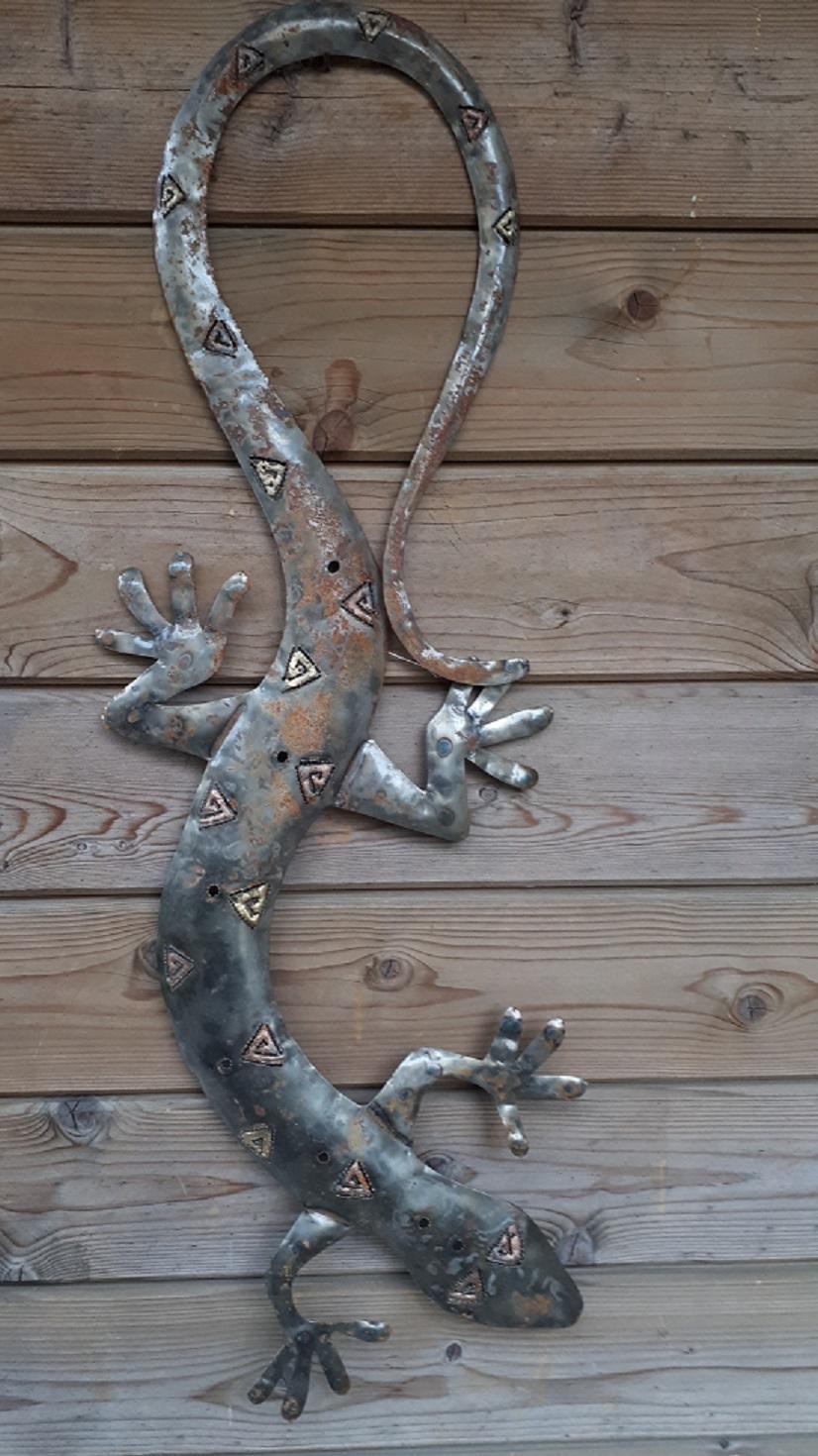 Gecko Echse 85 cm Edelrost