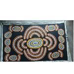 orig Malerei, Aborigines 75x45cm, Leinen