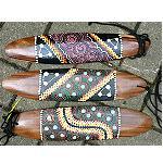 Schwirrholz Punktmalerei Aborigines 30cm