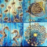 Notizbuch Ozean Meer Mosaik 17x12cm