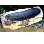 Baum Holz Obst Schale Antik-Look 35x16cm