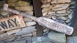 Holz Paddel Tiki beach bar Holz Maori 1 m