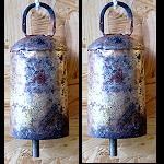 2erSet uralt Tempel Baum Glocke Tibet 11cm