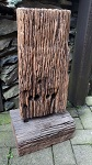 Verwitterter Zaunpfahl Pfosten Eisen Holz