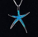 Silber Türkis Stern Opal Optik 3,3cm