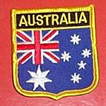 Aufnäher Flagge Australien Wappen