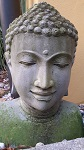 Buddha Stein Kopf Antik Look 40cm