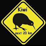 Aufkleber Roadsign Kiwi New Zealand