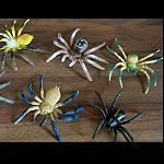 3er Set  Spinne aus Gummi 6cm