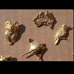 Pin goldfarben verschiedene Tiere