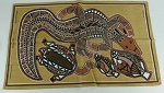 Stoffdruck Aborigines Malerei 78x48cm