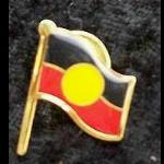 Pin Aborigines Flagge