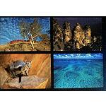 6er Postkartenset Australien Motive