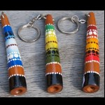 Schlüsselanhänger Holz Didgeridoo 10cm