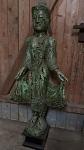 stehender Buddha antik-grün  ca. 116 cm