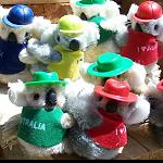 10 Klammer Koala Aussie Jungs +Hut o Cap