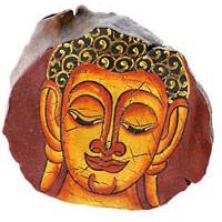 Holz Schatulle Dose Buddha 13cm