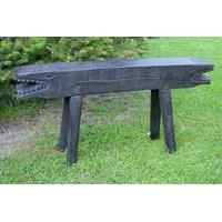 Krokodil Bank Holz 100cm