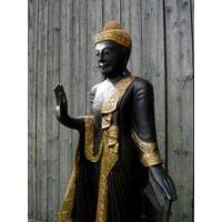 Buddha Thailand stehend 170 cm  schwarz