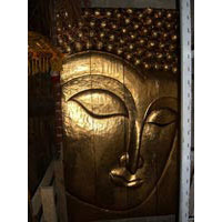 Buddha Gesicht 180 cm blattvergoldet