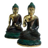 Bronze-Buddha ca. 10 cm