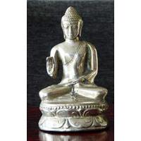 Buddha silber-bronze ca. 10 cm