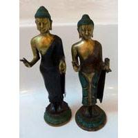 Buddha stehend 38 cm Bronze