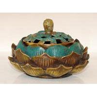Dose Bronze Lotusblüte  Ø 14 cm