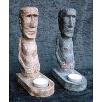 19 Stück Osterinsel Kerzenhalter 22cm Moai