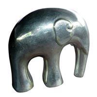 Elefant round design Silber Höhe 8 cm