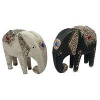 Elefanten Holz schön verziert