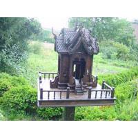 Geisterhäuschen Geisterhaus Holz 160cm