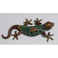 Gecko Echse Bronze 25 cm