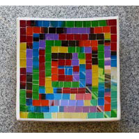Schale Karo 3er Set Terracotta