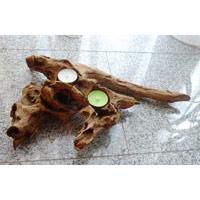 Teelichthalter Wurzel ca. 25-30 cm