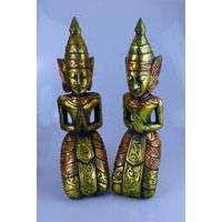 1 Paar Engelwesen-Tempelwächter ca. 40cm