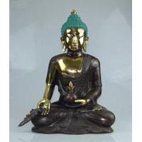 Bronze Buddha 38 cm sitzend
