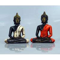 Buddha Thai - Stil Fiberglas 14 cm