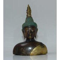 Buddha Büste Bronze Höhe 15 cm