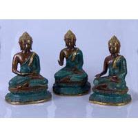 Bronze-Buddha 25 cm sitzend