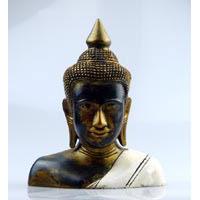 Büste des Buddha Fiberglas 22 cm