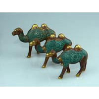 Kamel Bronze 3er Set von 8 cm-11 cm