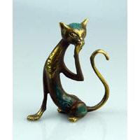Katze Bronze Filigran Höhe ca. 14 cm
