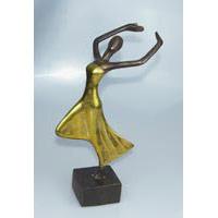 Tänzerin Bronze Gold ca. 33 cm