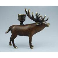 Kerzenhalter Hirsch Bronze 15x13 cm