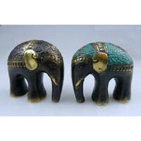 Elefant round design Bronze Höhe 8 cm