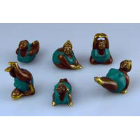 Elfi Mini 6er Set Antiklook Bronze 5-7cm