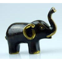 Elefant stehend mini Bronze Länge 9cm