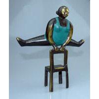 Elfi Spagat Bronze Höhe 21 cm